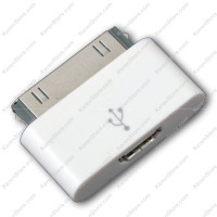 Female Micro USB To 30 Pin Apple Charger Adapter IPhone 4 IPad White