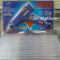Paket ALAT LEM TEMBAK / GLUE GUN PLUS ISI 12PC ADA TOMBOL ON / OFF