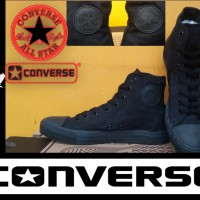 SEPATU CONVERSE ALL STAR HIGH FULL BLACK + BOX GRADE ORIGINAL