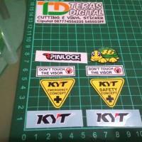 Sticker Visor Helm KYT / Kaca Helm Helmet
