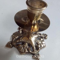 Candle holder kerawang kuningan