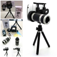 UNIVERSAL TELEZOOM 8X + TRIPOD HOLDER U /Lensa
