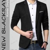 BLAZER BLACKRAY (S M L XL) - MODEL KOREA JAS PRIA PESTA KERJA KANTOR