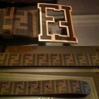 FENDI FF Zucca College Belt in BROWN Gold Buckle REAL 1:1 BEST Quality