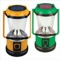 Jual lentera camping / emergency lamp + power bank + solar panel Murah