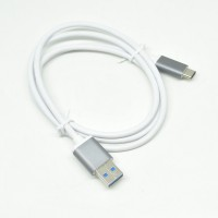 Aluminum USB 3.1 Type C To USB 3.0 Male 1 Meter - White