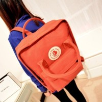 Tas Import C90228 Red Canvas Backpack Ransel Fashion Korea King Kong