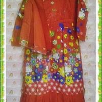 Baju Muslim Anak Perempuan Hello Kitty 3 - 4 Thn