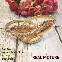 Belt Sabuk Ikat Pinggang Chain Daun Leaf Gold Silver Elie Saab
