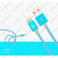 Hoco UPL09 Weave Lightning Braided Cable For IPhone 6/6 + / 5/5s - Blue