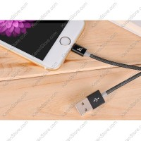 Hoco UPL09 Weave Lightning Braided Cable For IPhone 6/6 + / 5/5s - Black