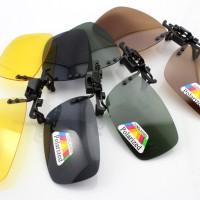 Kacamata Clip On Flip Up Polarized Polaroid Minus Jadi Sunglasses
