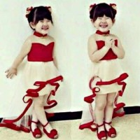 dress sincia gaun cheongsam bayi baju MEILING imlek kids anak cewe