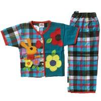 Setelan Baju Tidur Piyama Anak Perempuan Lengan Pendek Bl3-1