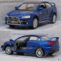Diecast Mitsubishi Lancer Evo X (Biru) Mobil Mobilan Mainan Anak
