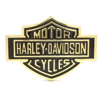 Emblem Mobil Tulisan Gold Harley Davidson Metal