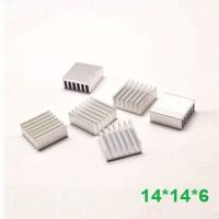 Heat Sink Aluminium Radiator Cooling Pendingin 14*14*6 Heatsink AC21