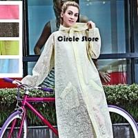 Raincoat Set / Jas Hujan Dress Transparan Lace Princess