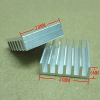 Heat Sink Aluminium Radiator Cooling Pendingin 20*20*6 Heatsink AC23