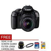 FREE ACC CANON EOS 1200D KIT 18-55mm IS II - 18 MP