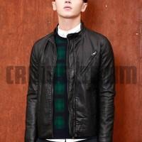 jaket kulit pria SK102, grosir jaket pria murah
