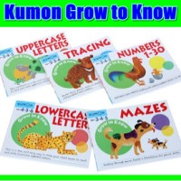 Kumon Grow to Know maze, uppercase, lowercase, numbers, tracing