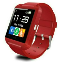 Jual I-One U8 Smartwatch For Android and iOS Merah Murah