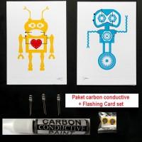 Carbon Conductive Paint+ Paket Edukasi FLASHING CARD SET