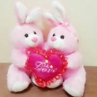 harga Boneka Rabbit Couple Love Tokopedia.com