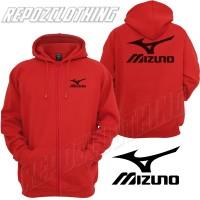 harga jaket sweater hoodie zipper merah sport mizuno terbaru Tokopedia.com