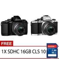 Olympus OM-D E-M10 Mark II Mirrorless Kamera Kit Lensa 14 - 42mm 2RK (