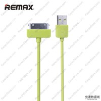 Remax Light Speed 30 Pin Apple Cable For IPhone 4/4s - Green