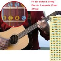 Stiker Fret Gitar untuk Belajar Pemula / Guitar Fretboard Note Sticker