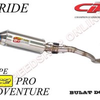 harga Knalpot Cld Racing X-ride Type C2 Pro Adventure Silencer Bulat Doff Tokopedia.com