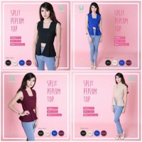 harga Split Peplum Top Blouse Dress Baju Pesta Wanita Murah Tokopedia.com