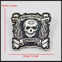 harga Lapel Pin Jaket Harley Davidson Winged Skull Tokopedia.com