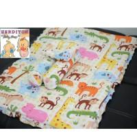 set bedcover bantal guling/selimut/kasur bayi/gendongan/tas bayi/baju