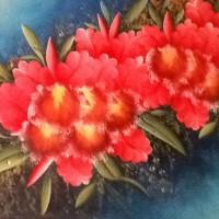 harga Lukisan Tangan Asli Bunga Anggrek Merah Menawan Kanvas Saja Tokopedia.com