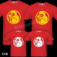 Golden 2016 Chinese New Year of the Monkey Kaos Imlek | Family T-Shirt
