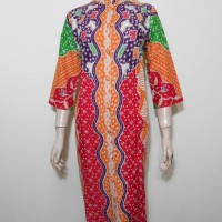 Dres Batik Semi Tulis / Sek Dress 3/4 / Tunik Batik Warna / Gaun Pesta