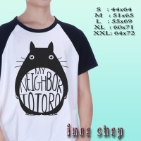 Kaos Raglan My Neighbor Totoro Logo | Kaos Distro
