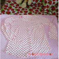 Baju Tidur / Baju Hamil Baju Menyusui Busui Kancing Depan Strawberry