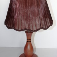 Lampu Meja Kayu Minimalis [Free Bohlam LED]