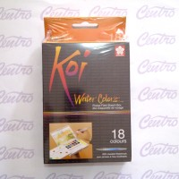 Sakura KOI WaterColors 18 Color Sketch Pocket Box Set