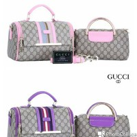 Tas Gucci Boston with Estonia mini 2in1(8230)Kwalitas Semipremium.