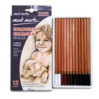 Mont Marte Coloured Charcoal Pencils Set 12