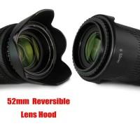 Lens Hood for Nikon Canon 52mm Reverse Reversible Bolak Balik