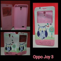 FlipCover Oppo Joy 3 Owl / FlipCover oppo Joy3  Sweet / Case Oppo Joy3