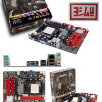 BIOSTAR A780LB Motherboard AMD 760G, VGA, 2x DDR2, PCI-E, Socket AM2+