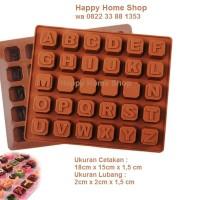 Jual Cetakan silikon huruf abjad silicon coklat puding alpabet Murah